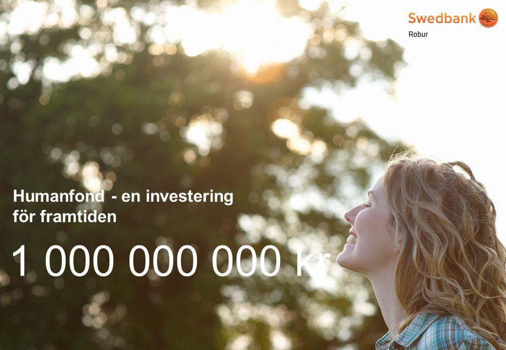 © Swedbank Robur Vi gillar Sveriges Ingenjörers Miljöfond 6 55 000 000 kr