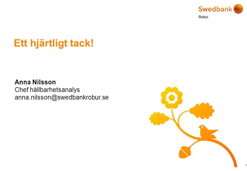© Swedbank Robur Ett hjärtligt tack.