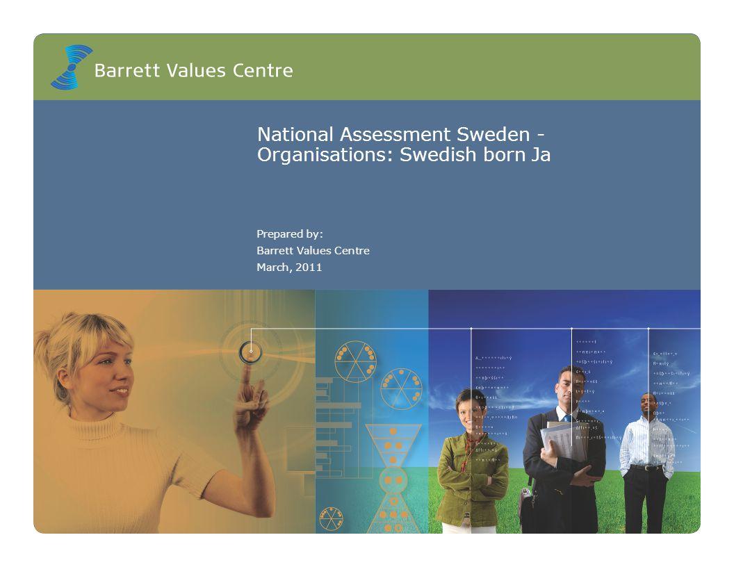 National Assessment Sweden - Organisations: Swedish born Ja Prepared by: Barrett Values Centre March, 2011