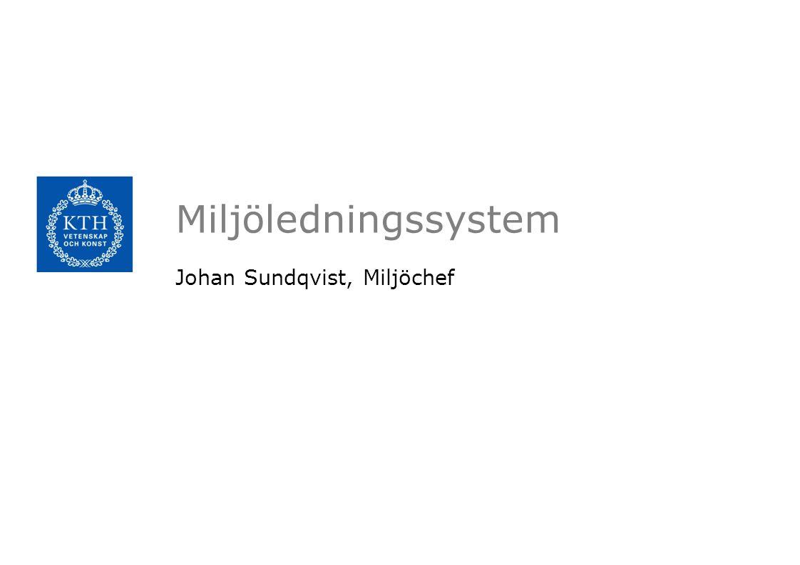 Miljöledningssystem Johan Sundqvist, Miljöchef