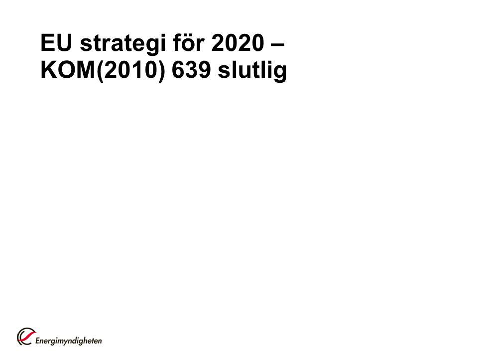 EU strategi för 2020 – KOM(2010) 639 slutlig