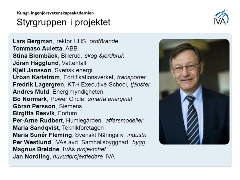 Lars Bergman, rektor HHS, ordförande Tommaso Auletta, ABB Stina Blombäck, Billerud, skog &jordbruk Jöran Hägglund, Vattenfall Kjell Jansson, Svensk en