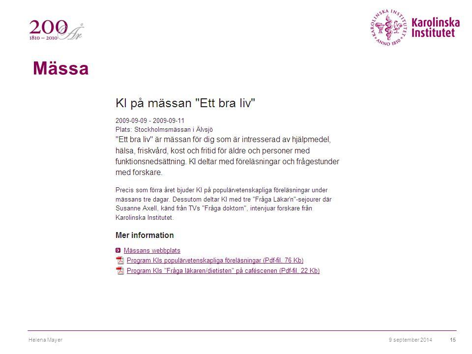 Mässa 9 september 2014Helena Mayer15