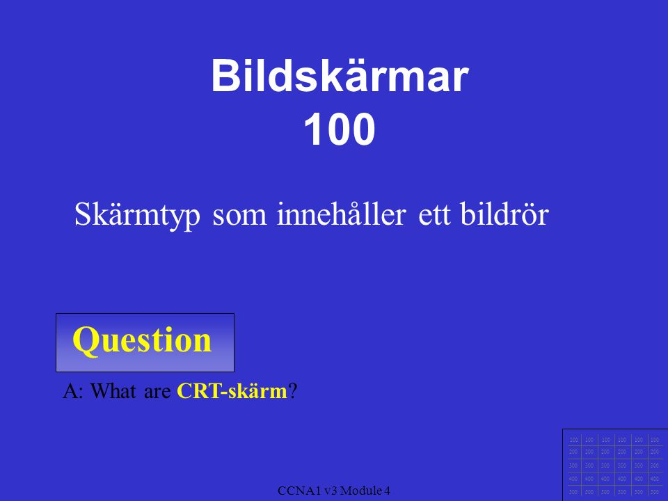 Question 100 200 300 400 500 CCNA1 v3 Module 4 A: What is Trådar.