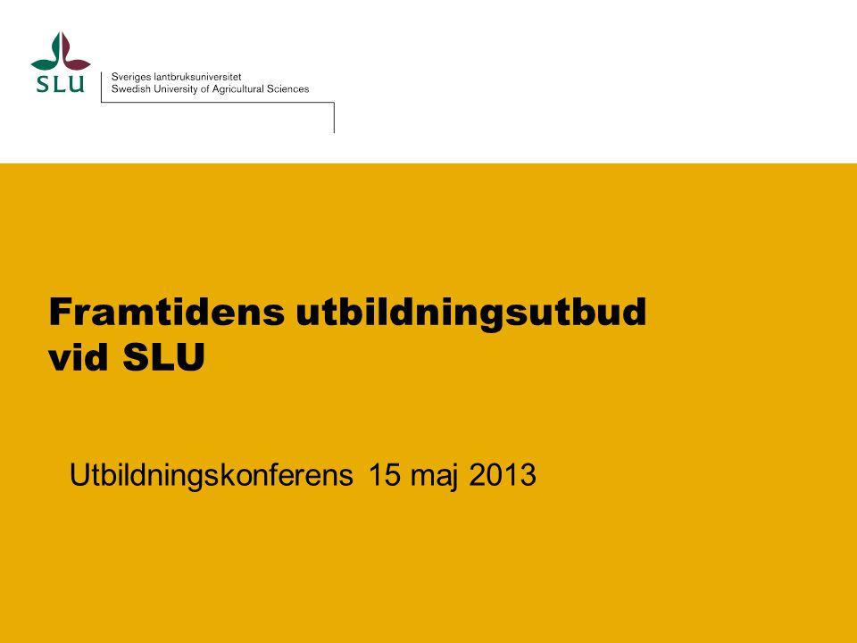 Program pass I 13.00 Inledning Varför behöver utbildningarna förändras nu.
