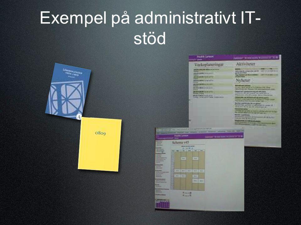 Exempel på administrativt IT- stöd