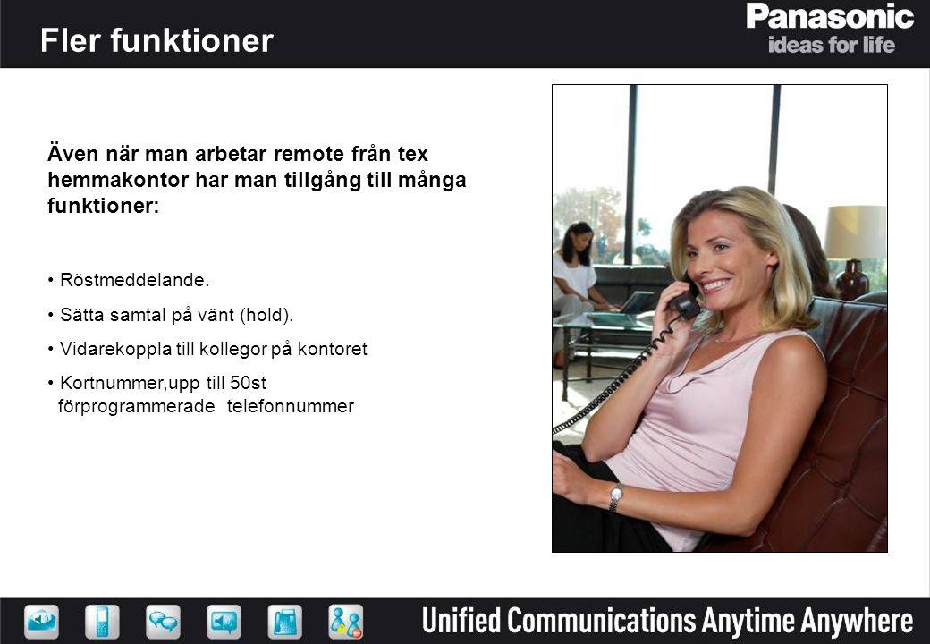 Även när man arbetar remote från tex hemmakontor har man tillgång till många funktioner: Röstmeddelande.