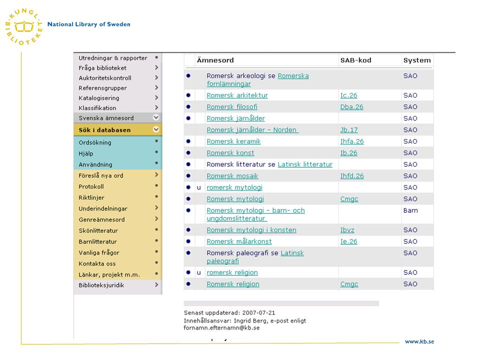 www.kb.se TGM II projektet 23.10.2007