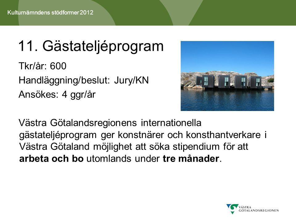 Kulturnämndens stödformer 2012 11.
