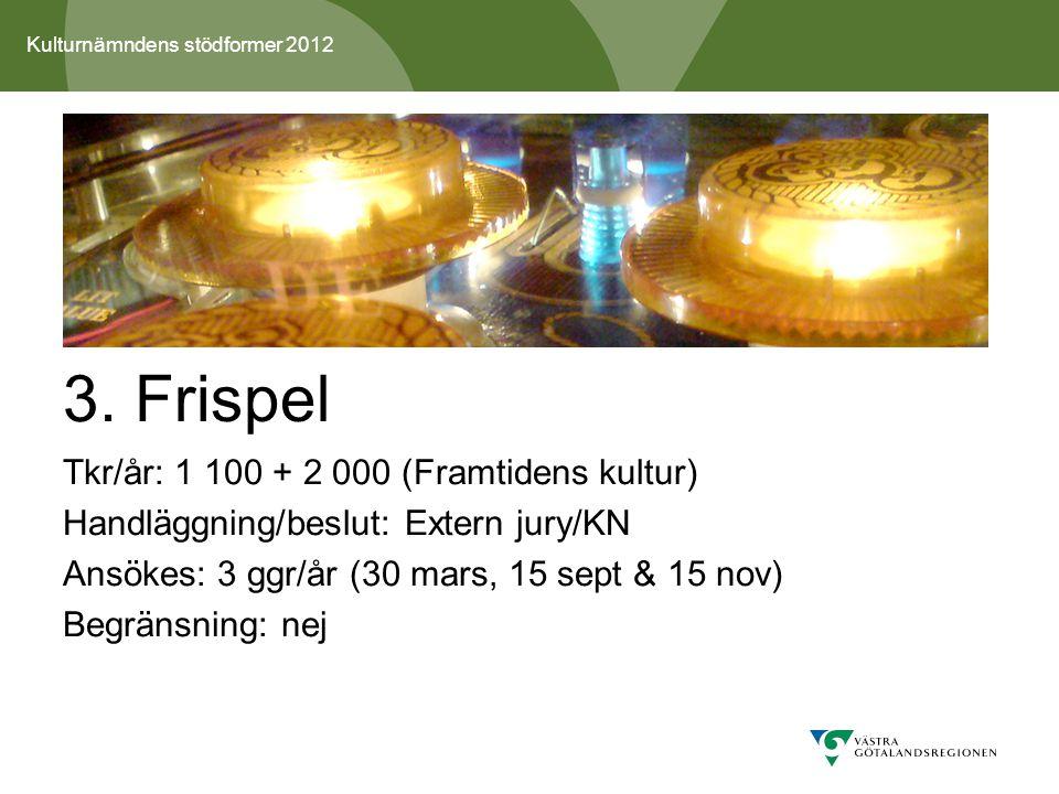Kulturnämndens stödformer 2012 3.