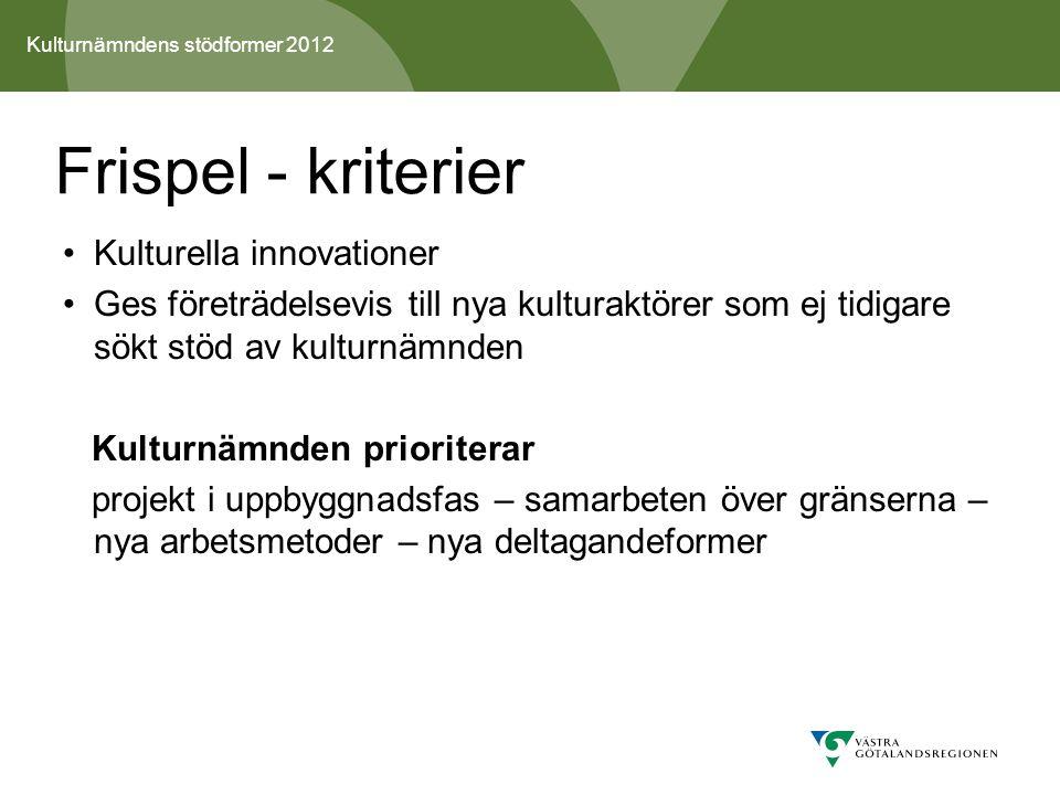 Kulturnämndens stödformer 2012 10.