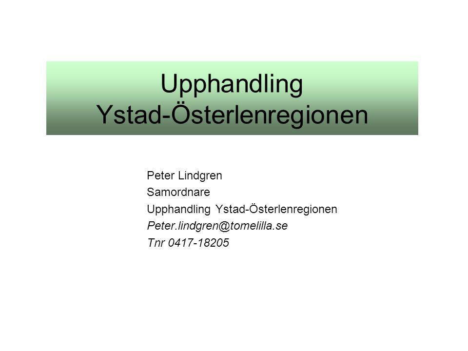 Upphandling Ystad-Österlenregionen Peter Lindgren Samordnare Upphandling Ystad-Österlenregionen Peter.lindgren@tomelilla.se Tnr 0417-18205