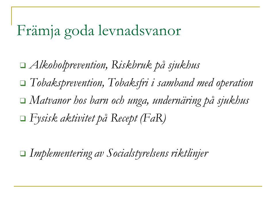 Hälsofrämjande vårdmiljö Nationell konferens 16-17 nov, Malmö! Därefter skapa broschyr/bok.