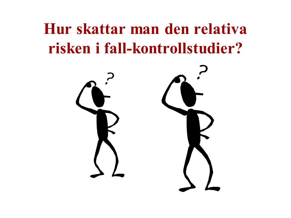 Hur skattar man den relativa risken i fall-kontrollstudier?