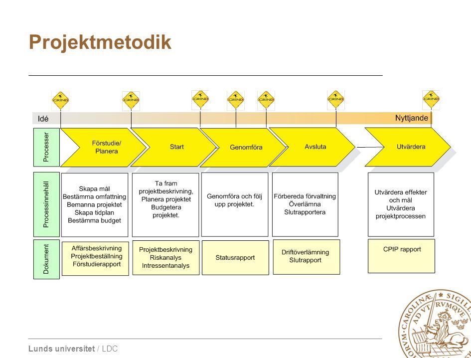 Lunds universitet / LDC Projektmetodik