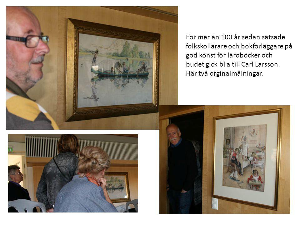 Orginalmålningar till skol- planscher visades på olika våningar.