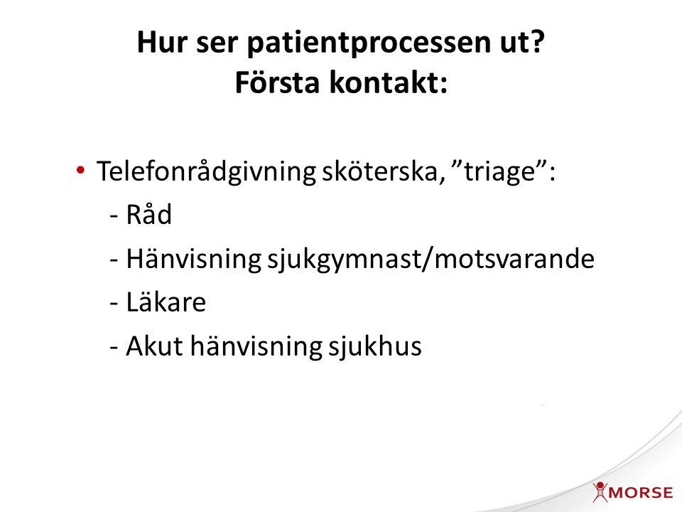 Hur ser patientprocessen ut.
