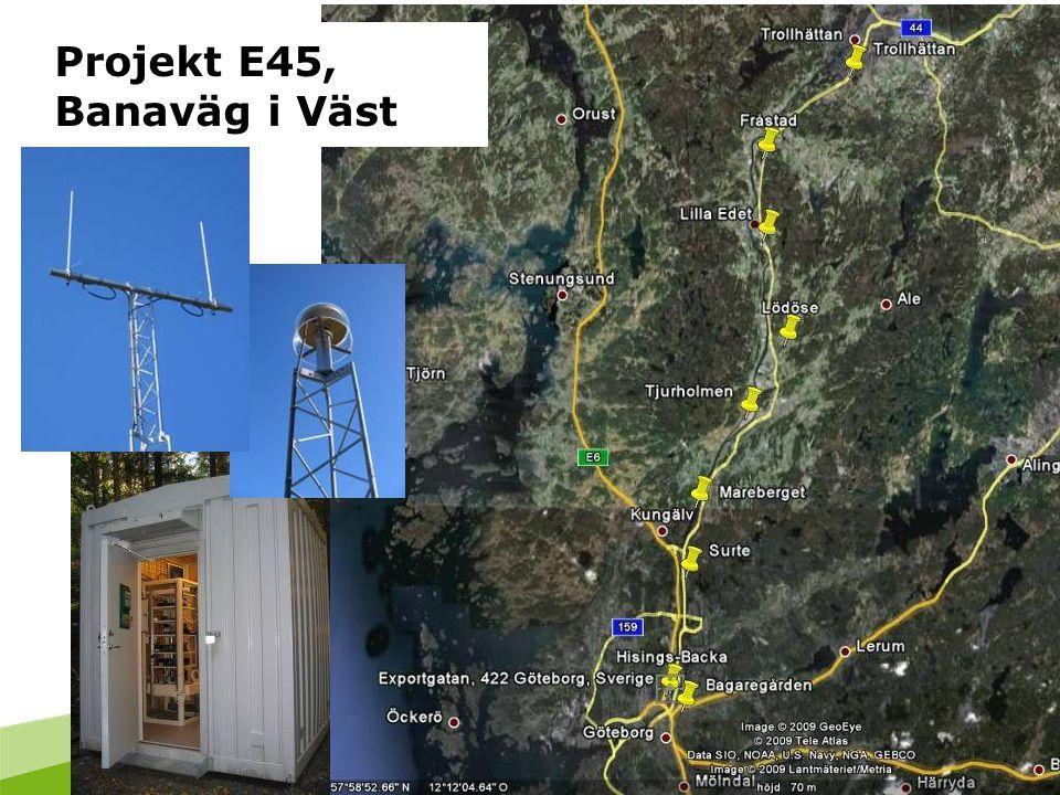 Projekt E45, Banaväg i Väst