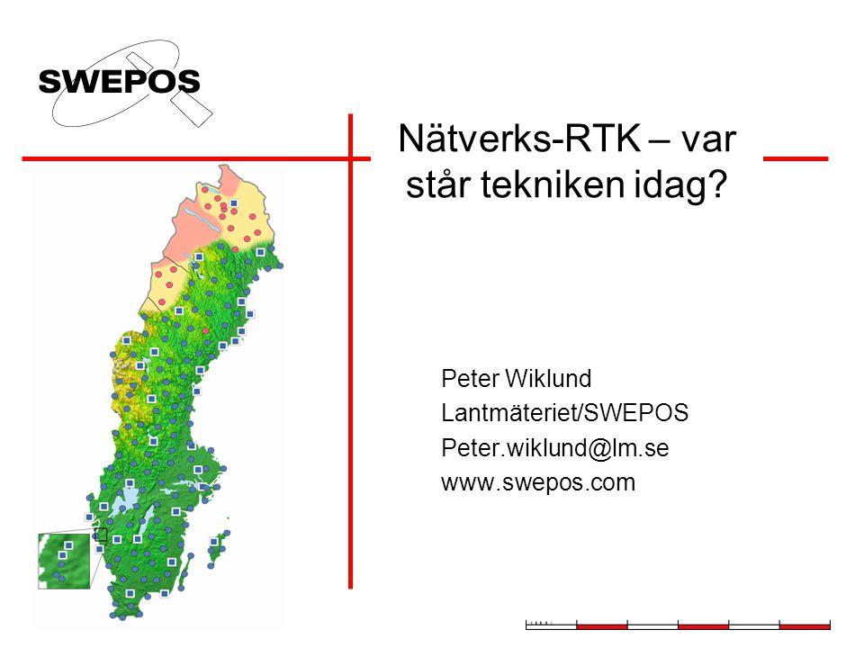 Nätverks-RTK – var står tekniken idag.