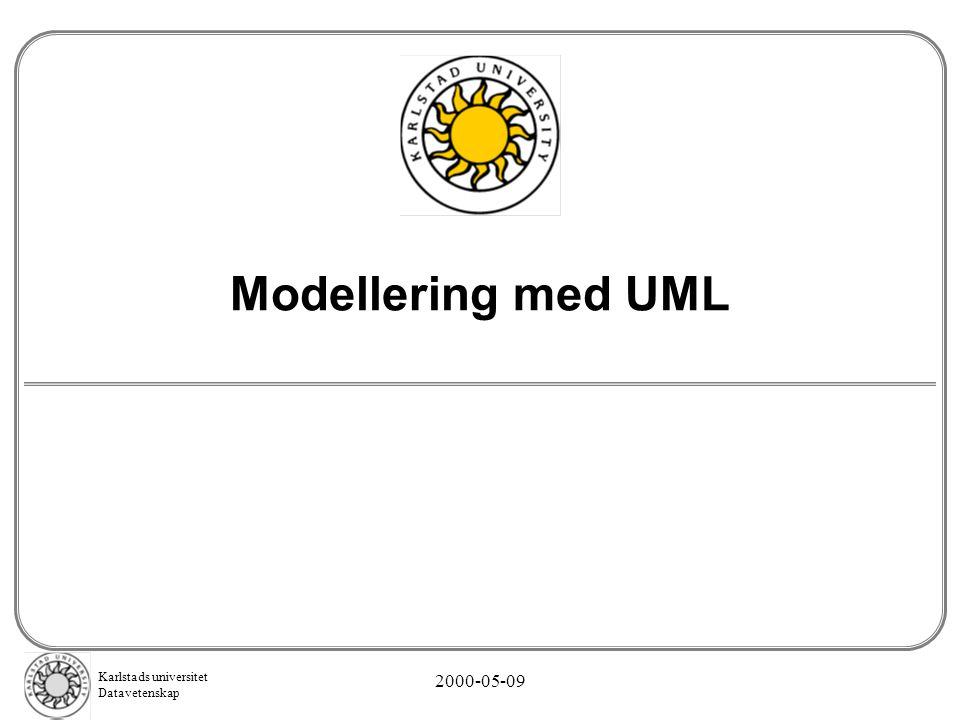 Karlstads universitet Datavetenskap 2000-05-09 Modellering med UML