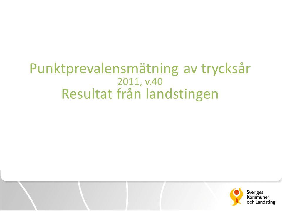 Resultatredovisning landstingen PPM-trycksår v.40.