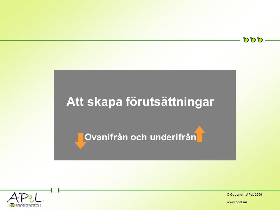 © Copyright APeL 2006 www.apel.nu Nätverk – en extern utvecklingsorganisation ORG