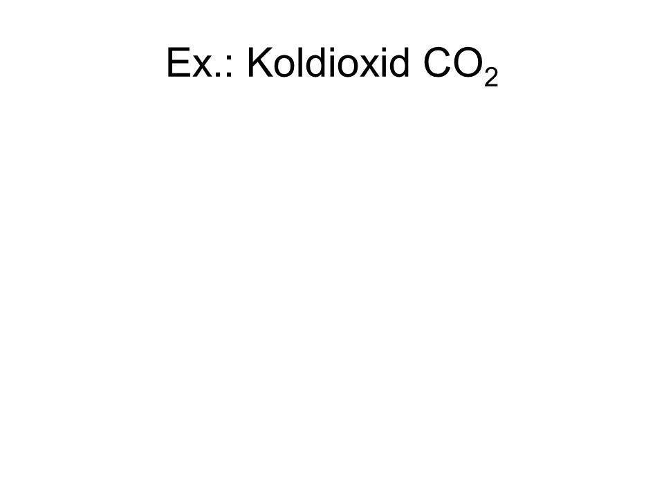Ex.: Koldioxid CO 2