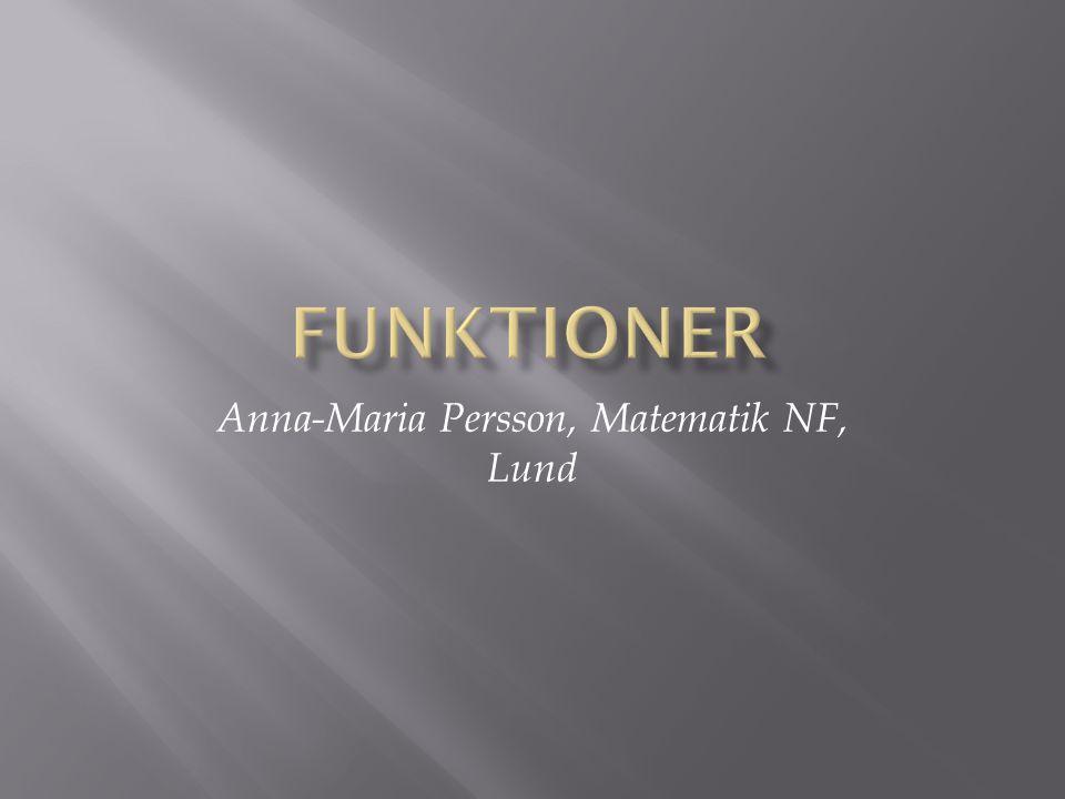 Anna-Maria Persson, Matematik NF, Lund