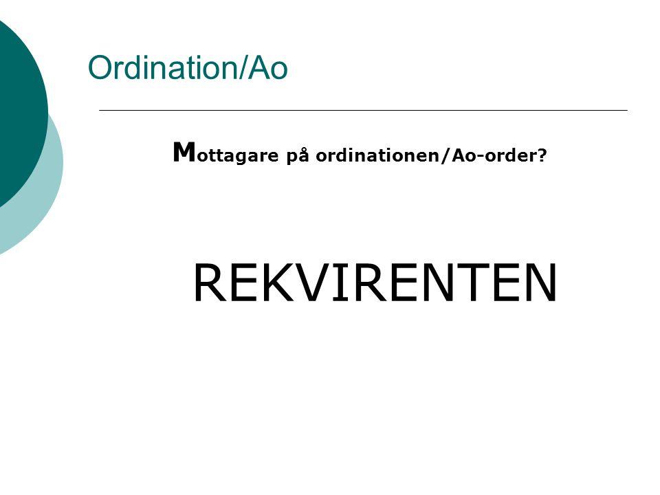 Ordinationer/Ao  Kommentar på orderhuvud eller i Ao.