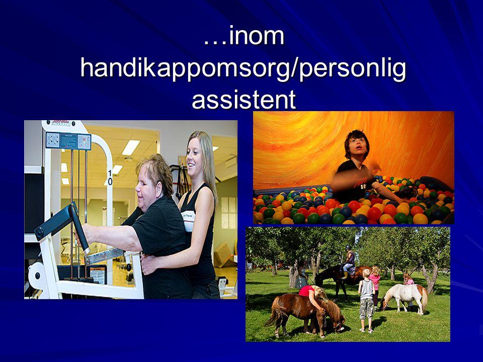 …inom handikappomsorg/personlig assistent
