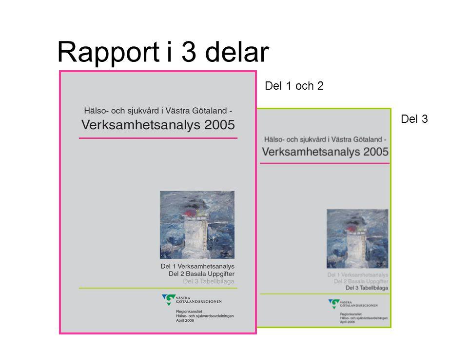 Tabell 4.Medelvårdtid för vissa diagnosgrupper 2004 inom VGR.