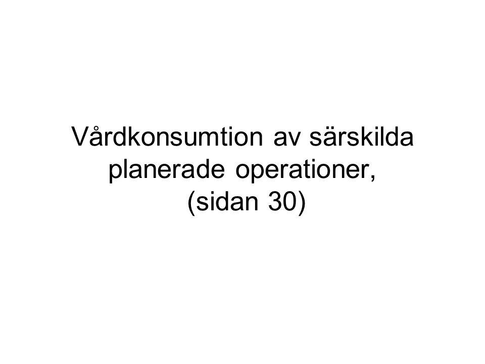 Vårdkonsumtion av särskilda planerade operationer, (sidan 30)