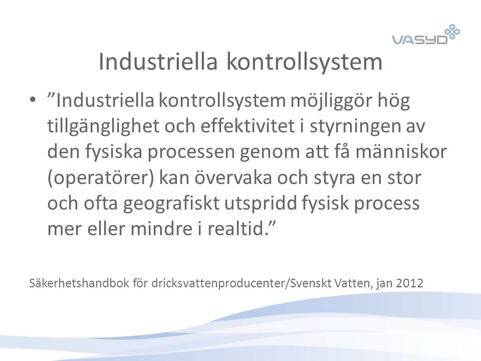 """Industriella kontrollsystem """"Industriella kontrollsystem möjliggör hög tillgänglighet och effektivitet i styrningen av den fysiska processen genom att"""