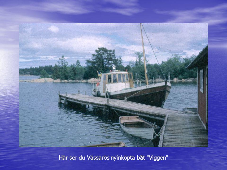 Här ser du Vässarös nyinköpta båt