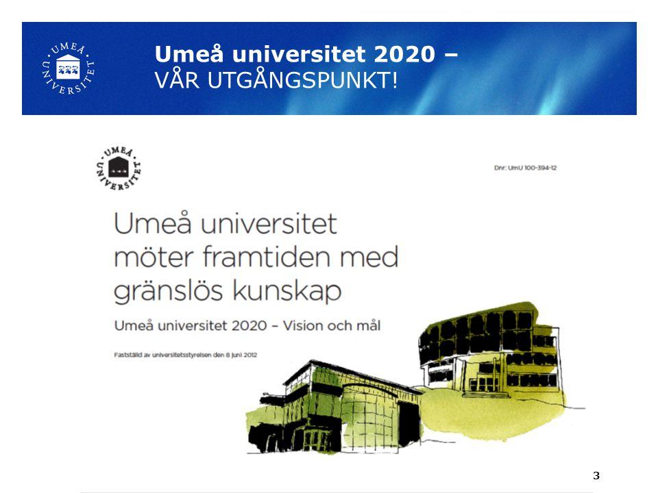 Umeå universitet 2020 – VÅR UTGÅNGSPUNKT! 3