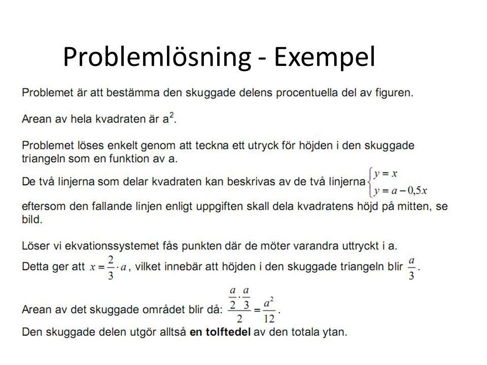 Problemlösning - Exempel