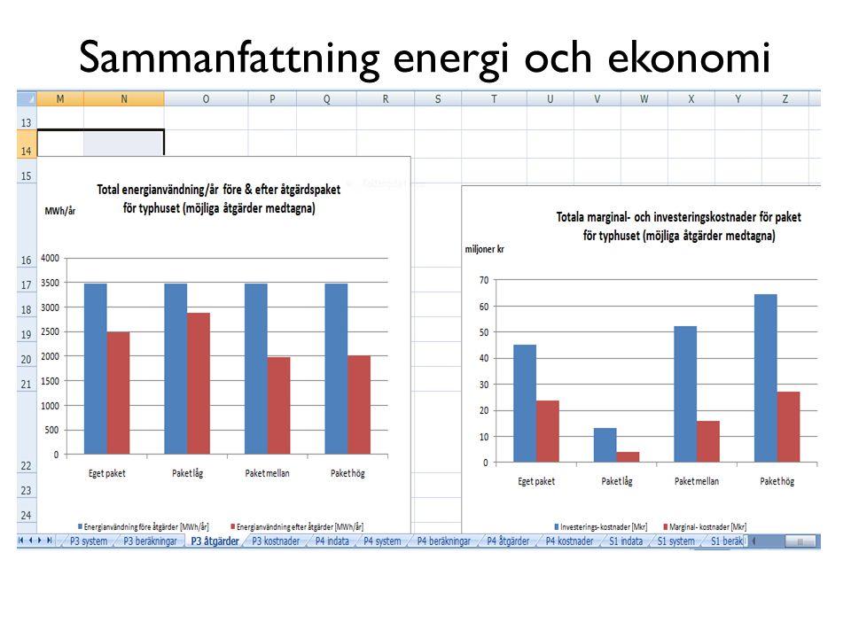 Sammanfattning energi och ekonomi