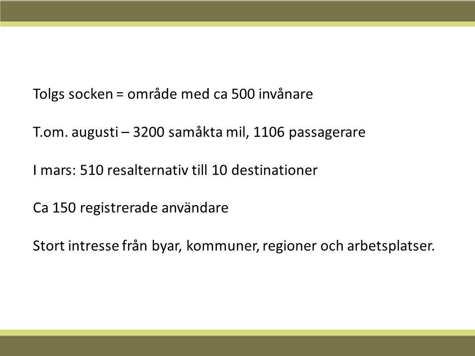 Tolgs socken = område med ca 500 invånare T.om.