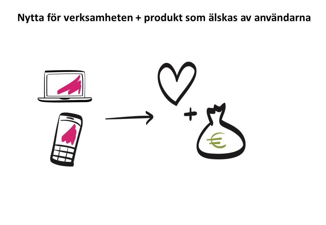 ? ? Nytta för verksamheten + produkt som älskas av användarna