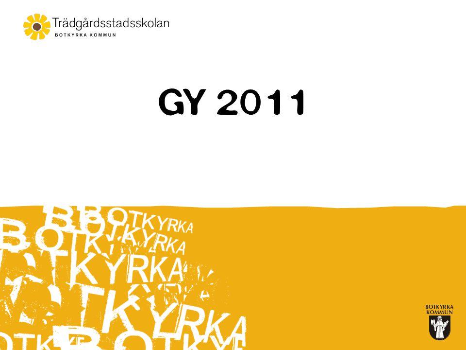 Två Examina  Yrkesexamen –Betyg i kurser om 2 500p –Betyget E (G) i kurser 2250p –Betyget E (G) i Sv/Sas 1, Eng 5 och Ma 1 –Betyget E (G) 400p av de programgemensamma ämnena.