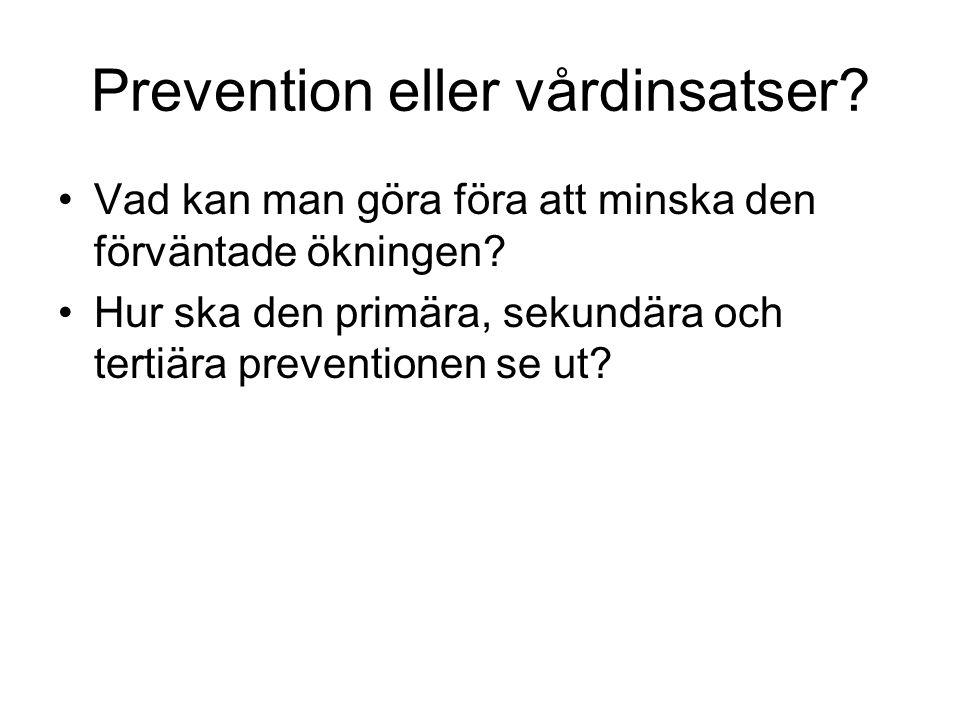 Prevention eller vårdinsatser.Vad kan man göra föra att minska den förväntade ökningen.