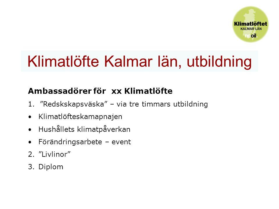 Klimatlöfte Kalmar län, utbildning Ambassadörer för xx Klimatlöfte 1.