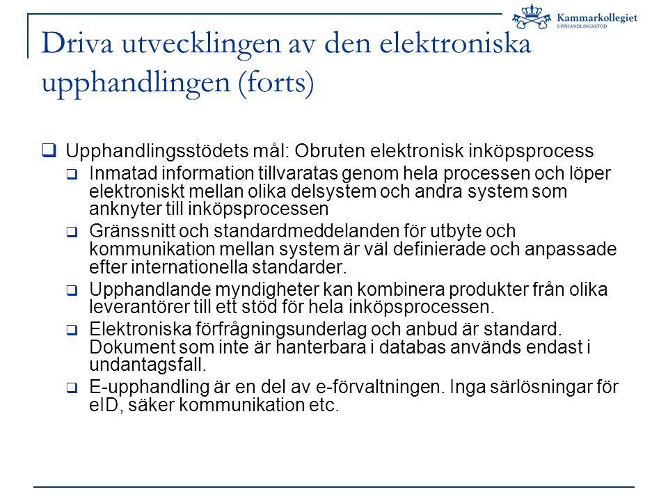 Inköpsprocessen.e-Upphandling e-Handel Begrepps- och terminologi- arbete behövs.