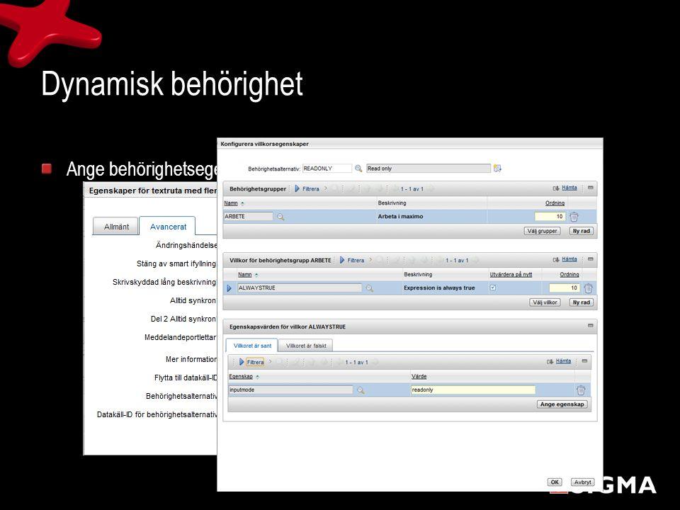 Hantering av utdata datakvalitet/registervård Skapa egna rapporter * Nyckeltal med åtgärdslänkar Export – import av data via Excel – Kommaseparerad textfil
