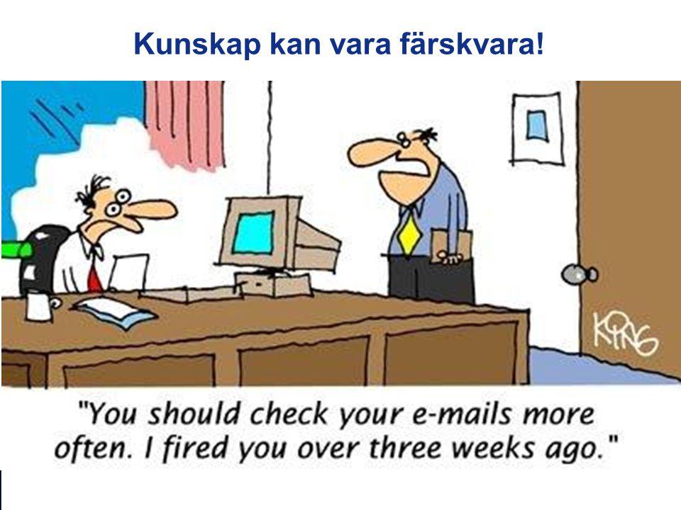 SBU – Kunskapscentrum för hälso- och sjukvården www.sbu.se Kunskap kan vara färskvara!