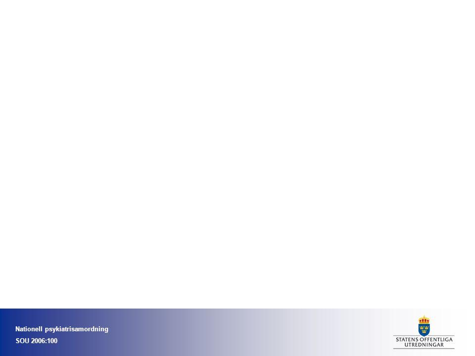 Nationell psykiatrisamordning SOU 2006:100