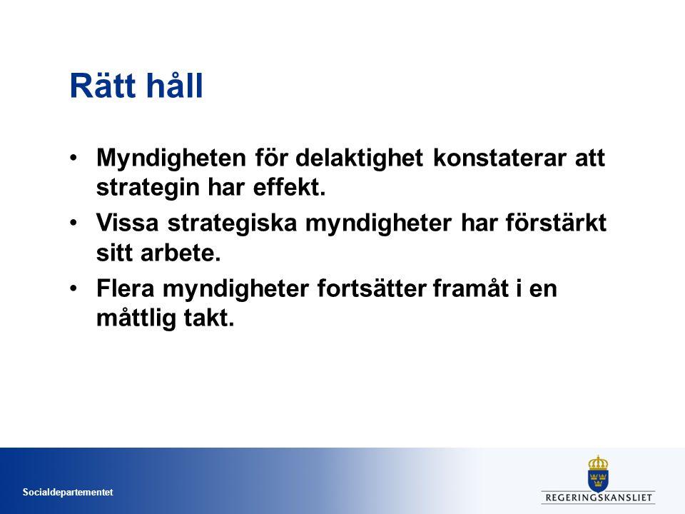 Socialdepartementet Positiv utveckling Medier, it och kultur Stadig ökning av textning och tolkning i både public service och TV4.