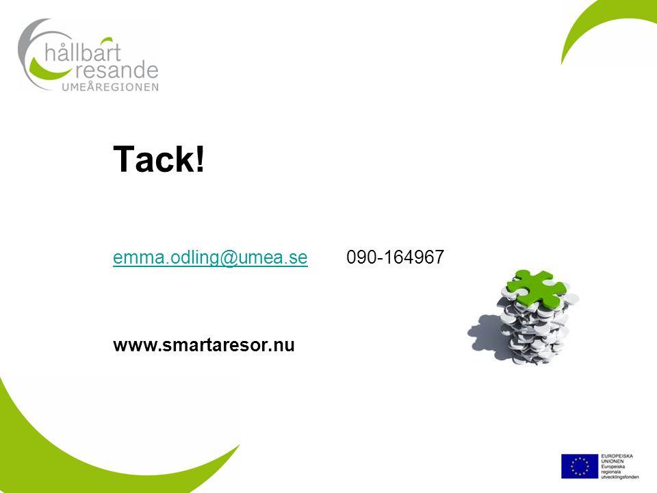 Tack! emma.odling@umea.se 090-164967 www.smartaresor.nu emma.odling@umea.se