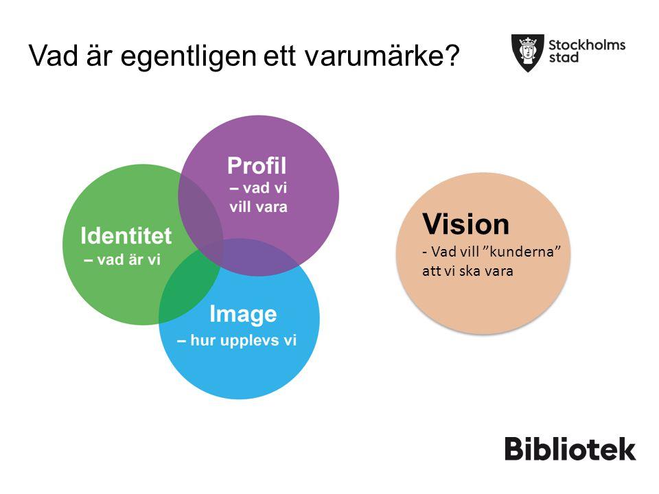 """Vad är egentligen ett varumärke Vad är egentligen ett varumärke? Vision - Vad vill """"kunderna"""" att vi ska vara"""