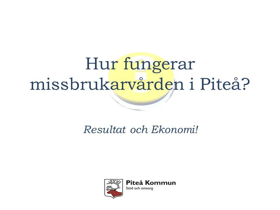 Hur fungerar missbrukarvården i Piteå Resultat och Ekonomi!